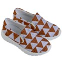 TRIANGLE2 WHITE MARBLE & RUSTED METAL Kid s Lightweight Slip Ons View3