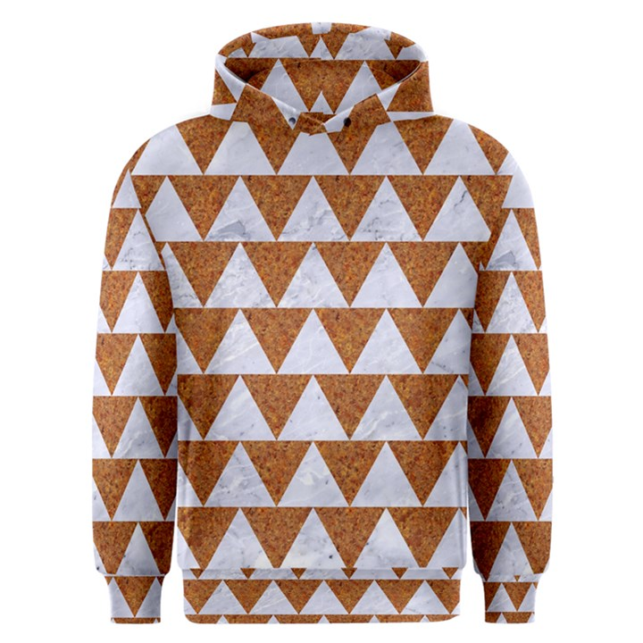 TRIANGLE2 WHITE MARBLE & RUSTED METAL Men s Overhead Hoodie