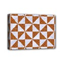TRIANGLE1 WHITE MARBLE & RUSTED METAL Mini Canvas 7  x 5  View1