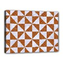 TRIANGLE1 WHITE MARBLE & RUSTED METAL Canvas 16  x 12  View1