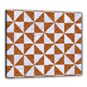 TRIANGLE1 WHITE MARBLE & RUSTED METAL Canvas 24  x 20  View1