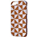 TRIANGLE1 WHITE MARBLE & RUSTED METAL Apple iPhone 5 Classic Hardshell Case View3