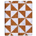 TRIANGLE1 WHITE MARBLE & RUSTED METAL Apple iPad 3/4 Flip Case View1