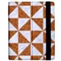 TRIANGLE1 WHITE MARBLE & RUSTED METAL Apple iPad 3/4 Flip Case View2