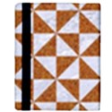 TRIANGLE1 WHITE MARBLE & RUSTED METAL Apple iPad 3/4 Flip Case View3