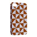 TRIANGLE1 WHITE MARBLE & RUSTED METAL Apple iPhone 4/4S Hardshell Case with Stand View2