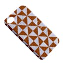 TRIANGLE1 WHITE MARBLE & RUSTED METAL Apple iPhone 4/4S Hardshell Case with Stand View5