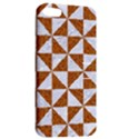 TRIANGLE1 WHITE MARBLE & RUSTED METAL Apple iPhone 5 Hardshell Case with Stand View2