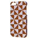 TRIANGLE1 WHITE MARBLE & RUSTED METAL Apple iPhone 5 Hardshell Case with Stand View3