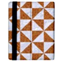 TRIANGLE1 WHITE MARBLE & RUSTED METAL Samsung Galaxy Tab 10.1  P7500 Flip Case View2