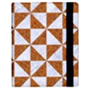 TRIANGLE1 WHITE MARBLE & RUSTED METAL Samsung Galaxy Tab 10.1  P7500 Flip Case View3