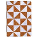 TRIANGLE1 WHITE MARBLE & RUSTED METAL iPad Mini 2 Flip Cases View1