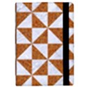 TRIANGLE1 WHITE MARBLE & RUSTED METAL iPad Mini 2 Flip Cases View2