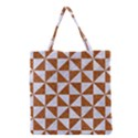 TRIANGLE1 WHITE MARBLE & RUSTED METAL Grocery Tote Bag View1