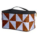 TRIANGLE1 WHITE MARBLE & RUSTED METAL Cosmetic Storage Case View3
