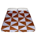 TRIANGLE1 WHITE MARBLE & RUSTED METAL Fitted Sheet (Queen Size) View1