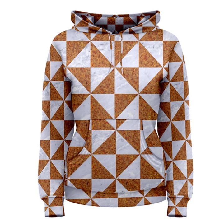 TRIANGLE1 WHITE MARBLE & RUSTED METAL Women s Pullover Hoodie
