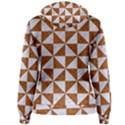 TRIANGLE1 WHITE MARBLE & RUSTED METAL Women s Pullover Hoodie View2