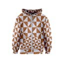 TRIANGLE1 WHITE MARBLE & RUSTED METAL Kids  Zipper Hoodie View1
