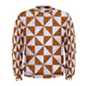 TRIANGLE1 WHITE MARBLE & RUSTED METAL Men s Sweatshirt View1