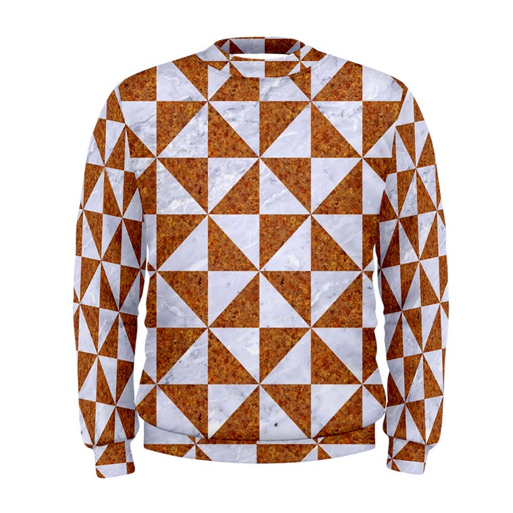 TRIANGLE1 WHITE MARBLE & RUSTED METAL Men s Sweatshirt