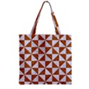 TRIANGLE1 WHITE MARBLE & RUSTED METAL Zipper Grocery Tote Bag View2