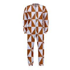 Triangle1 White Marble & Rusted Metal Onepiece Jumpsuit (kids)