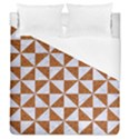 TRIANGLE1 WHITE MARBLE & RUSTED METAL Duvet Cover (Queen Size) View1