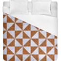 TRIANGLE1 WHITE MARBLE & RUSTED METAL Duvet Cover (King Size) View1