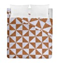 TRIANGLE1 WHITE MARBLE & RUSTED METAL Duvet Cover Double Side (Full/ Double Size) View1