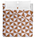 TRIANGLE1 WHITE MARBLE & RUSTED METAL Duvet Cover Double Side (Queen Size) View1
