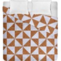 TRIANGLE1 WHITE MARBLE & RUSTED METAL Duvet Cover Double Side (King Size) View1