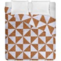 TRIANGLE1 WHITE MARBLE & RUSTED METAL Duvet Cover Double Side (California King Size) View1