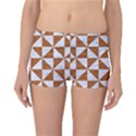 TRIANGLE1 WHITE MARBLE & RUSTED METAL Reversible Boyleg Bikini Bottoms View1