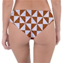 TRIANGLE1 WHITE MARBLE & RUSTED METAL Reversible Classic Bikini Bottoms View2