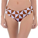 TRIANGLE1 WHITE MARBLE & RUSTED METAL Reversible Classic Bikini Bottoms View3