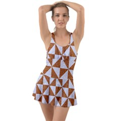 Triangle1 White Marble & Rusted Metal Swimsuit