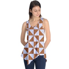 Triangle1 White Marble & Rusted Metal Sleeveless Tunic