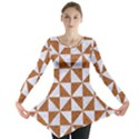 TRIANGLE1 WHITE MARBLE & RUSTED METAL Long Sleeve Tunic  View1