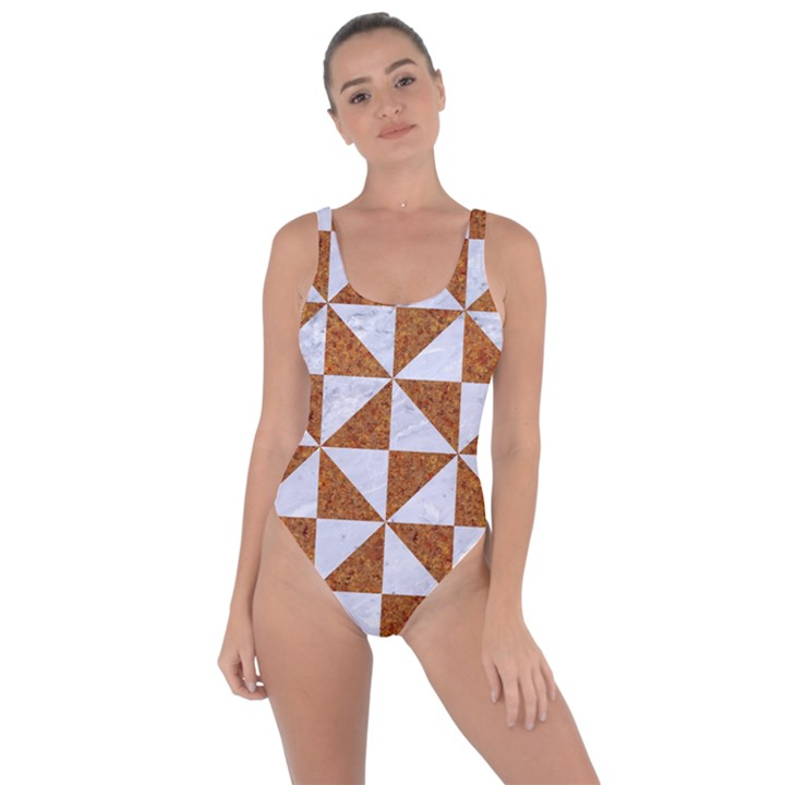 TRIANGLE1 WHITE MARBLE & RUSTED METAL Bring Sexy Back Swimsuit