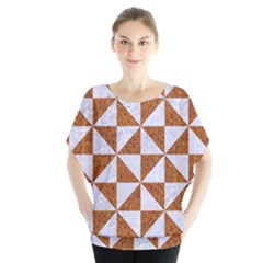 Triangle1 White Marble & Rusted Metal Blouse