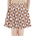 TRIANGLE1 WHITE MARBLE & RUSTED METAL Pleated Mini Skirt View1