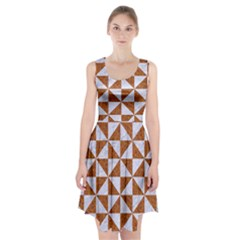 Triangle1 White Marble & Rusted Metal Racerback Midi Dress