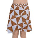 TRIANGLE1 WHITE MARBLE & RUSTED METAL Chiffon Wrap View1