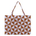 TRIANGLE1 WHITE MARBLE & RUSTED METAL Medium Tote Bag View1