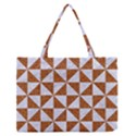 TRIANGLE1 WHITE MARBLE & RUSTED METAL Zipper Medium Tote Bag View1