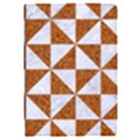 TRIANGLE1 WHITE MARBLE & RUSTED METAL Apple iPad Pro 9.7   Flip Case View1