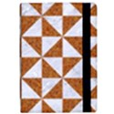 TRIANGLE1 WHITE MARBLE & RUSTED METAL Apple iPad Pro 9.7   Flip Case View2