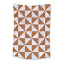 TRIANGLE1 WHITE MARBLE & RUSTED METAL Small Tapestry View1