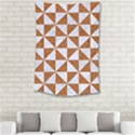 TRIANGLE1 WHITE MARBLE & RUSTED METAL Small Tapestry View2